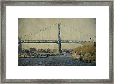 View From The Battleship Framed Print by Trish Tritz