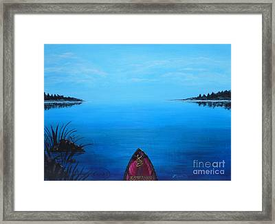 View From The Beach Framed Print