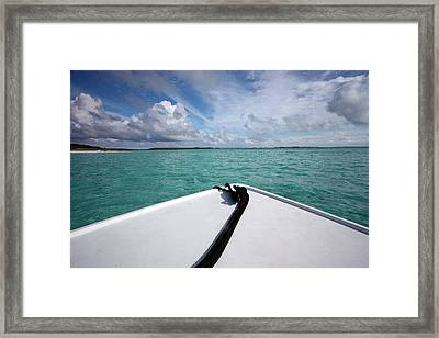 View From The Bow Framed Print by Mary Haber