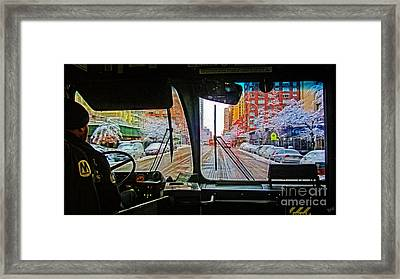 View From The Bus  Framed Print