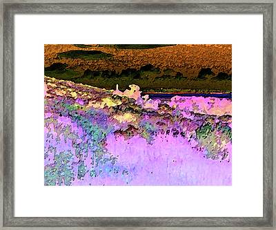 View From The Cabin Window 3 Framed Print by Lenore Senior