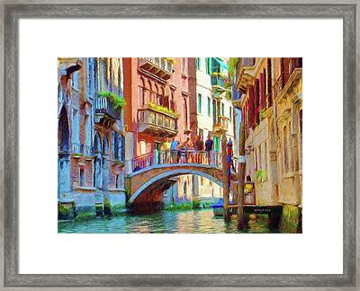 View From The Canal Framed Print