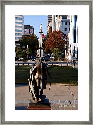 View From The Capitol Building In Columbia Sc To Down Town Framed Print by Susanne Van Hulst