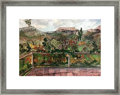 Framed Print featuring the mixed media View From The Deck by Norma Duch