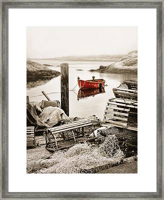 View From The Dock Framed Print