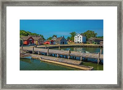 Framed Print featuring the photograph View From The Dock by Steven Ainsworth