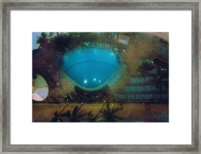 View From  The Eleventh Floor Balcony At The Waikiki Hotel Framed Print by Anne-Elizabeth Whiteway