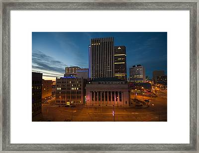 View From The Fairmont Framed Print by Bryan Scott