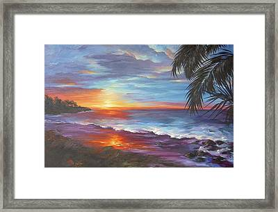 Framed Print featuring the painting View From The Hammock  by Dina Dargo