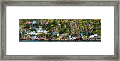 View From The Harbor St Johns Newfoundland Canada Framed Print