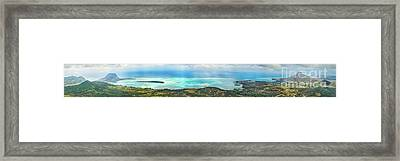 View From The Highest Peak Of Mauritius. Panorama Framed Print