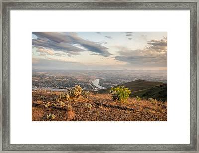 View From The Hill Framed Print