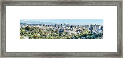 View From The Hollywood Hills Framed Print by Ike Krieger