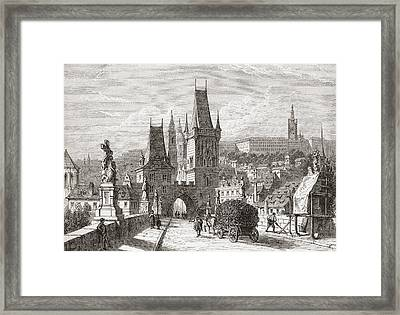 View From The Karlsbr Framed Print by Vintage Design Pics