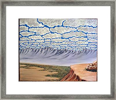 View From The Mesa Framed Print by Marco Morales