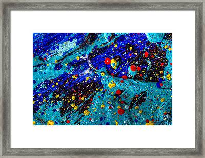 View From The Moon Framed Print by Sean Corcoran