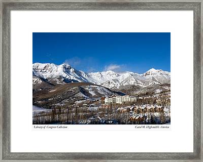 Framed Print featuring the photograph View From The Mountain Above Telluride by Carol M Highsmith