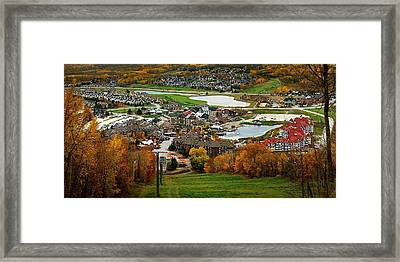View From The Mountain Framed Print