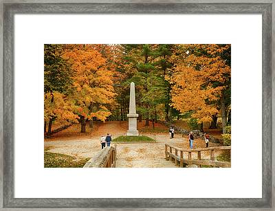 View From The Old North Bridge Framed Print by Jeff Folger