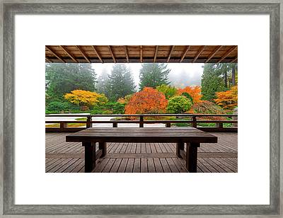 View From The Pavilion Framed Print