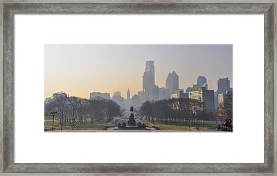 View From The Philadelphia Art Museum - Cityscape Framed Print