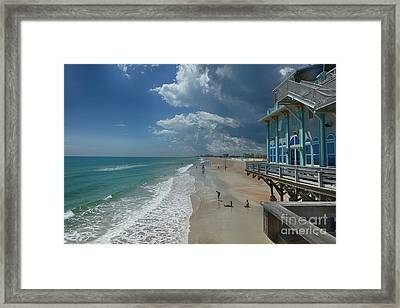 View From The Pier Framed Print by Judy Hall-Folde