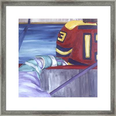View From The  Players Bench Framed Print by Ken Yackel