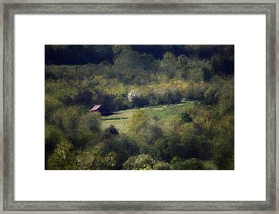 View From The Pond At The Hacienda Framed Print by David Lane