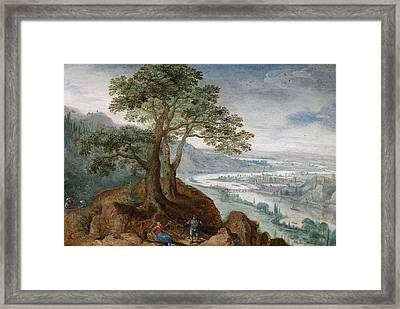 View From The Postlingberg Across The Town Of Linz Framed Print