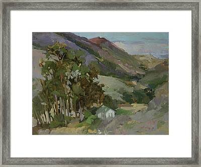 View From The Reservoir - Catalina Island Framed Print