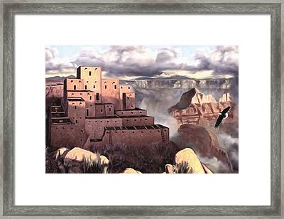 View From The Rim Framed Print by Ron Chambers