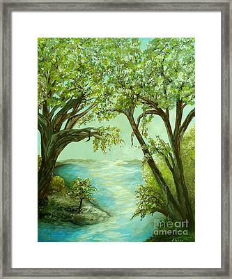 View From The River Bank Framed Print