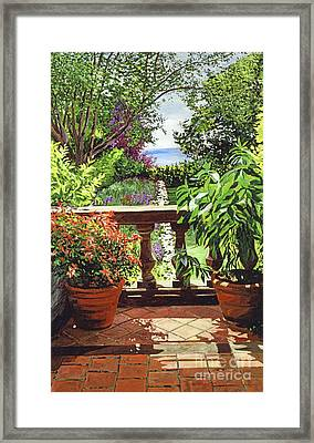 View From The Royal Garden Framed Print by David Lloyd Glover