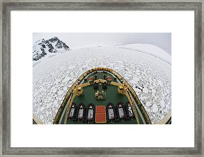 View From The Russian Icebreaker Framed Print by Daisy Gilardini