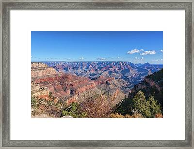 Framed Print featuring the photograph View From The South Rim by John M Bailey