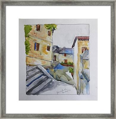View From The Steps  Framed Print by Janet Butler
