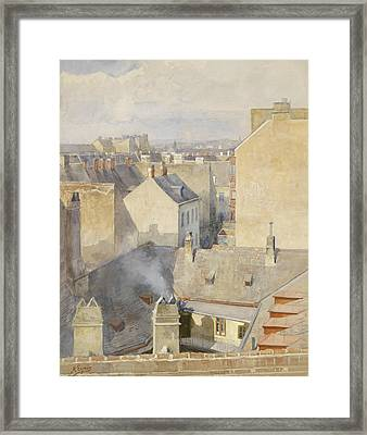 View From The Studio In The Klagbaumgasse In The 4th District Around 1890 Framed Print by Marie Egner