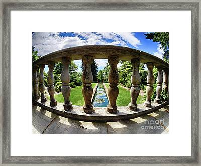 View From The Summer Garden Framed Print by Mark Miller