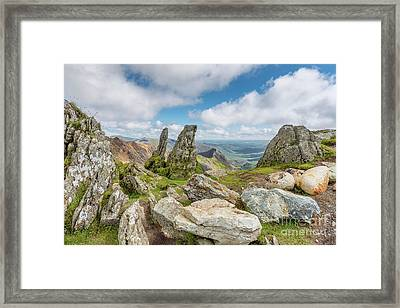 View From The Summit Framed Print