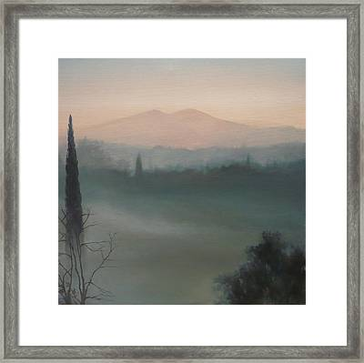 View From The Terrace Framed Print