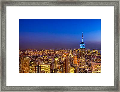 View From The Top - Nyc Skyline Framed Print by Mark E Tisdale