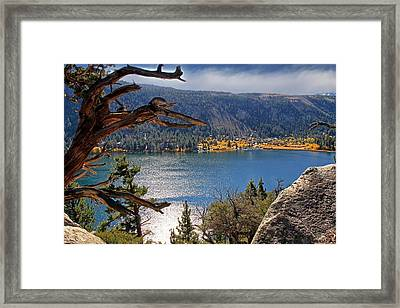 Framed Print featuring the photograph View From The Top Of June Lake by Donna Kennedy
