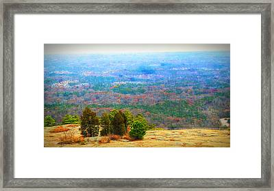 View From The Top Of Stone Mountain Framed Print by Dan Sproul