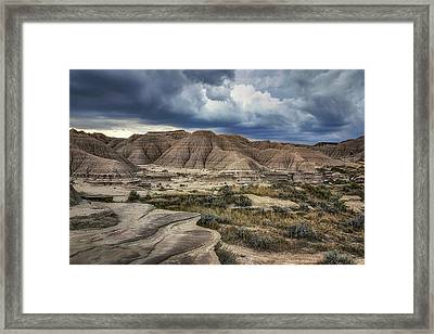View From The Top - Toadstool  Framed Print