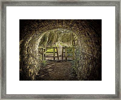 View From The Tunnel Framed Print