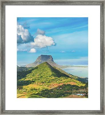 View From The Viewpoint. Mauritius.  Framed Print