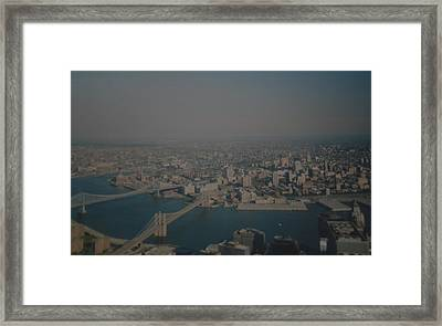 View From The  W T C  Framed Print by Rob Hans