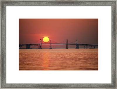 View From The Water Of The Chesapeake Framed Print by Kenneth Garrett
