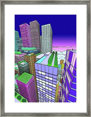 View From The Window Framed Print by Mikhail Buzhinskiy