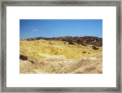 View From The Zabriskie Point  In Death Valley National Park Framed Print